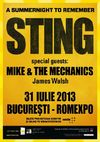 Concert Sting - Back to Bass la Romexpo