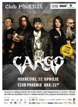 Concert caritabil Cargo in Club Phoenix pe 22 aprilie