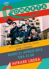 Concert de rockabilly cu Romarta in Control pe 21 aprilie