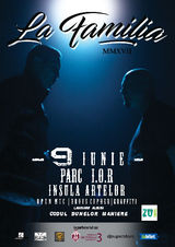 Concert La Familia pe 9 iunie in Parc I.O.R.