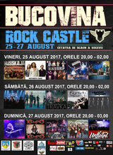 Bucovina Rock Castle 2017 va avea loc in perioada 25 - 27 august