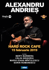 Alexandru Andries - in premiera la Hard Rock Cafe