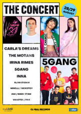 Abonamente: Carla's Dreams, The Motans, 5Gang, Irina Rimes - The Concert