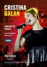 Cristina Balan in concert acustic pe terasa Hard Rock Cafe