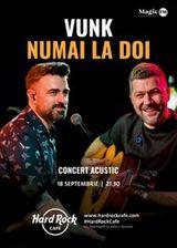 Concert VUNK acustic  Numai la doi