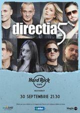 Concert Directia 5 pe 30 septembrie in Hard Rock Cafe